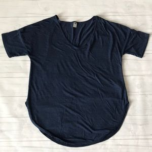 Old navy women's XL blue short sleeve top